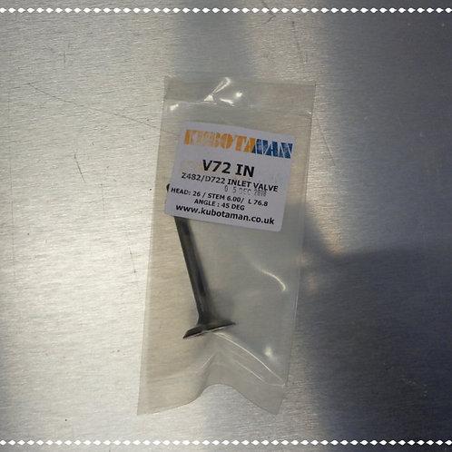 Inlet Valve Z400, Z482, D600, D722 & D782