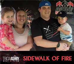 Sidewalk of Fire Pics