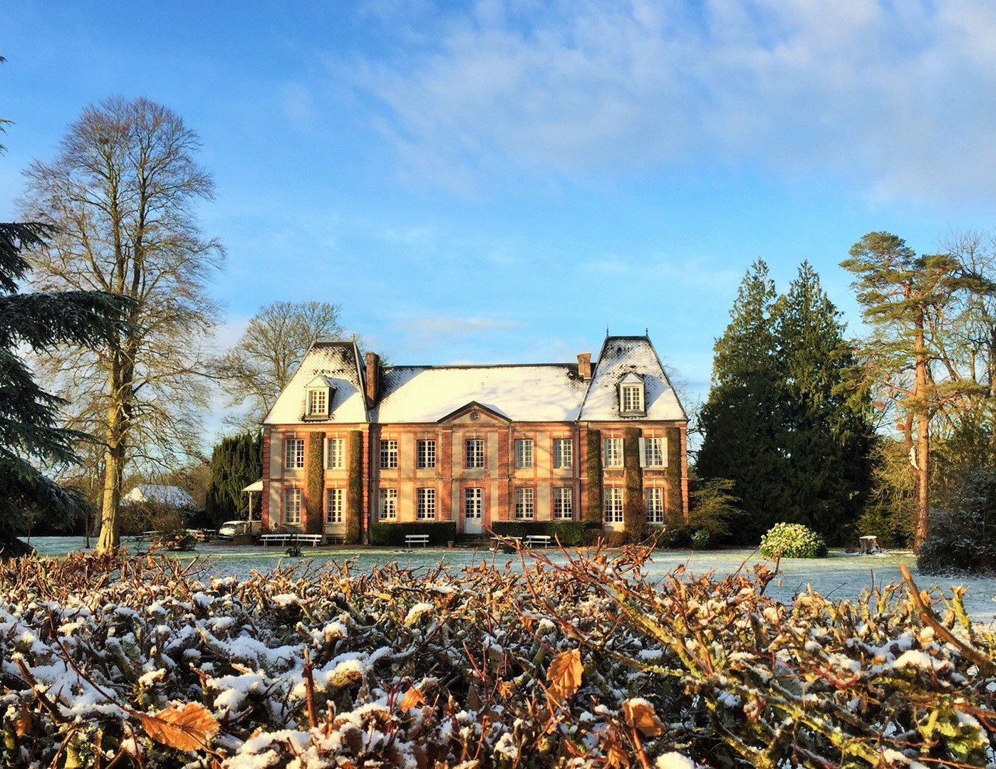 Château en hiver