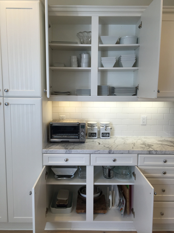 Spruce - kitchen organization project. See more design and organizing inspiration at www.spruceyourspace.com