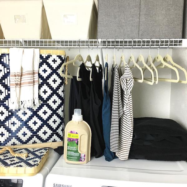Laundry room organization/organizing