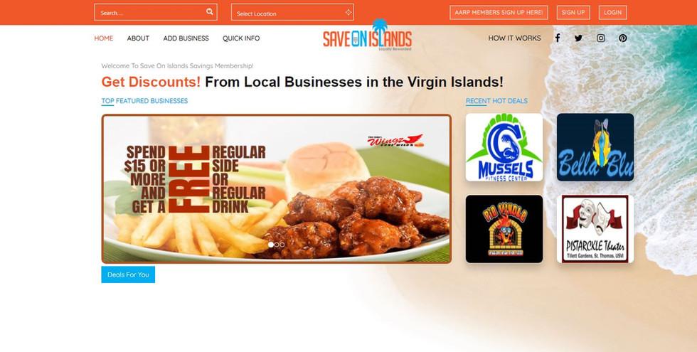 Save On Islands Membership Savings Website