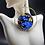 Thumbnail: Sequins Blue & Gold Hoops