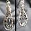 Thumbnail: Garnet Teardrop Hoop Earrings