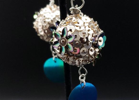 Sequins Flowers Earrings