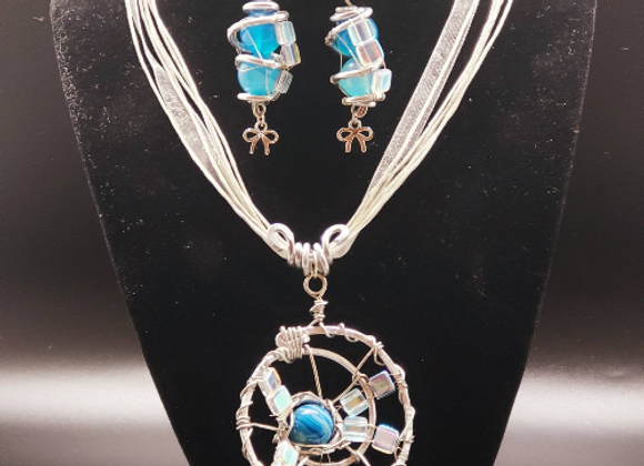 Blue Ice Jewelry Set