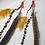 Thumbnail: Feather Crystal Beaded Earrings
