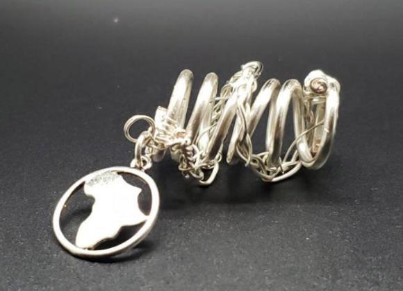Silver Africa Loc Ring (M-L)