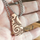 Thumbnail: Patterned copper hollow form pendant