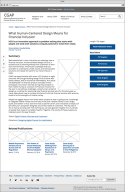 Publication wireframe