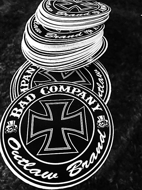 Bad Company Ironcross Logo Stickers