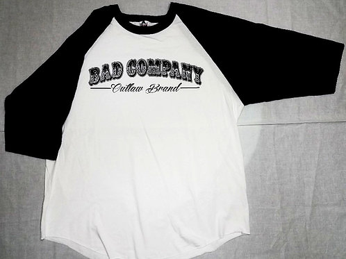 Black Sleeve White Body Jersey Bad Company Outlaw Brand