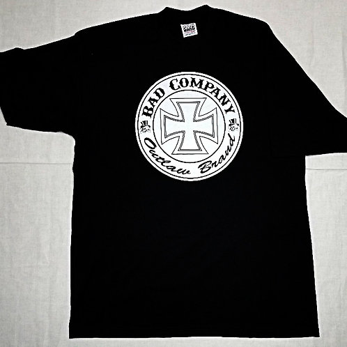 Black Short Sleeve With Bad Co. Iron Cross Logo