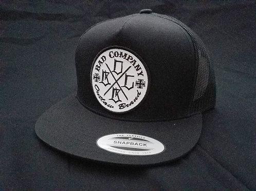 All Black Snap Back Bad Co. Trucker Hat