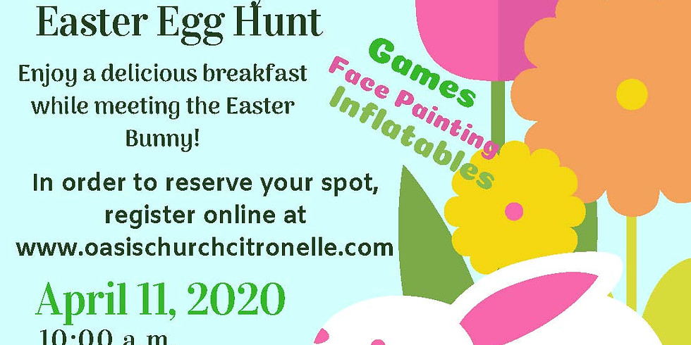 Breakfast with the Easter Bunny and Easter Egg Hunt 2020