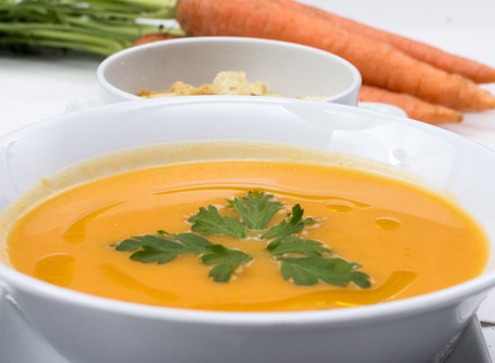 Gut healing carrot and ginger soup