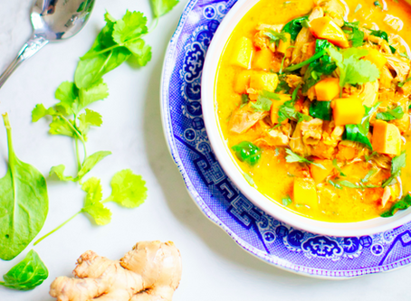 Sibo-friendly spicy chicken soup (low Fodmap)