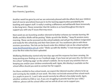 Letter from Mrs Harvey and Mrs Dawes