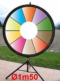 roue de la fortune 1m50