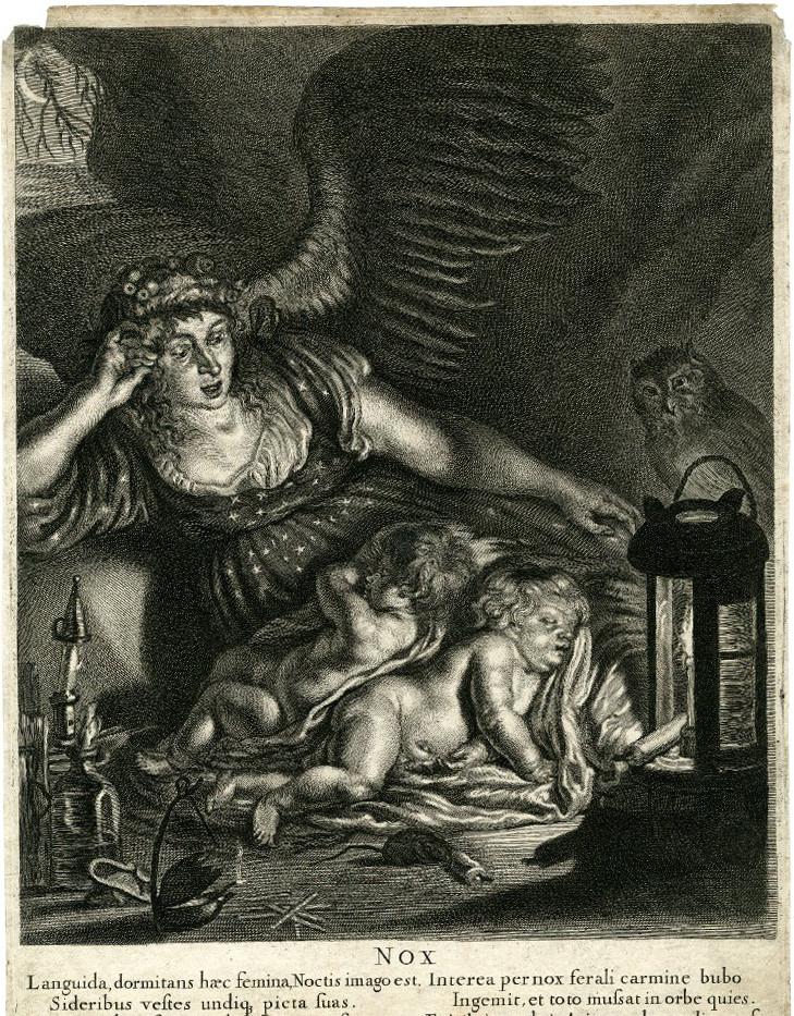 Nox, Joachim Von Sandrart (Francfort-sur-le-Main, 1606 - Nuremberg, 1688)