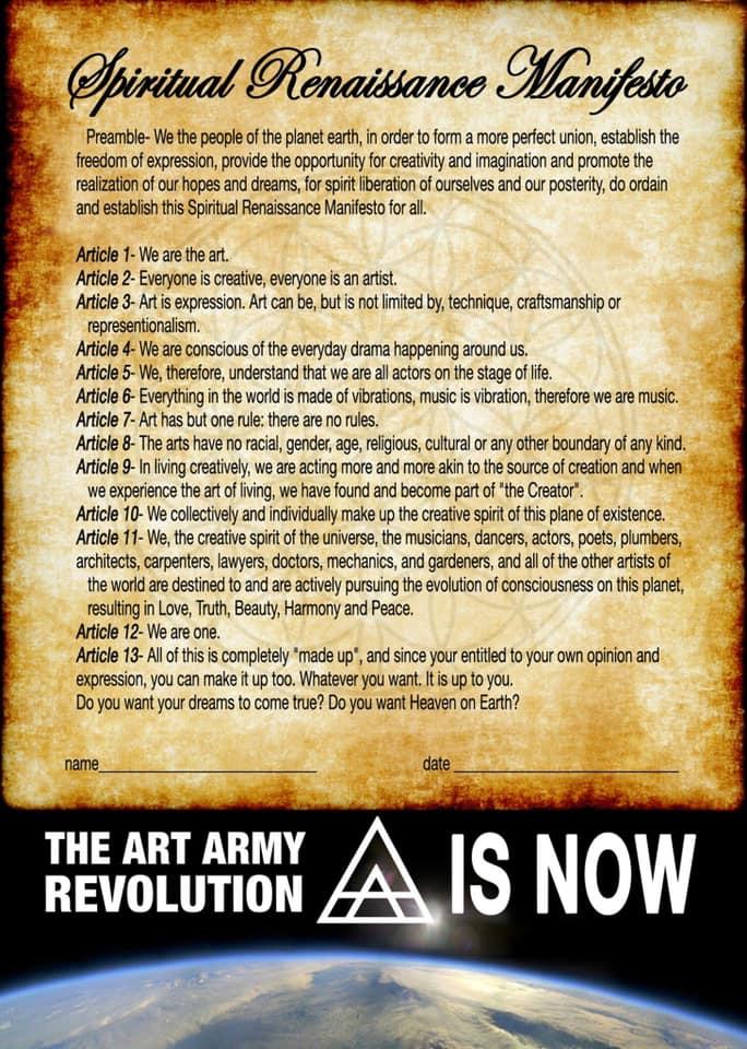 ART ARMY PROVIDENCE MANIFESTO