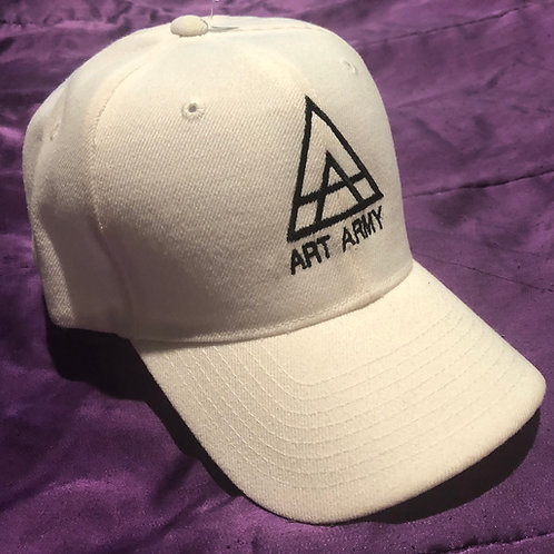 White Art Army Baseball Hat