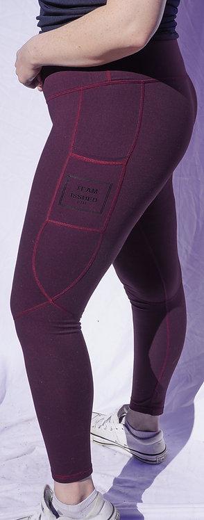 Burgundy High-Waisted Leggings