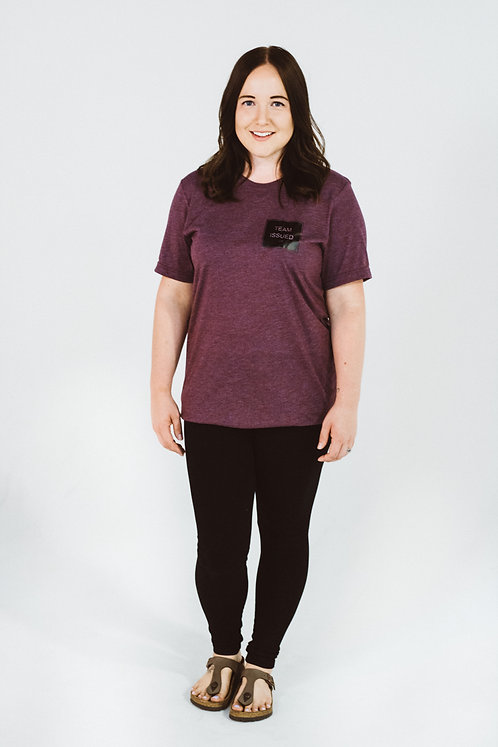 Burgundy Tri-blend T-shirt