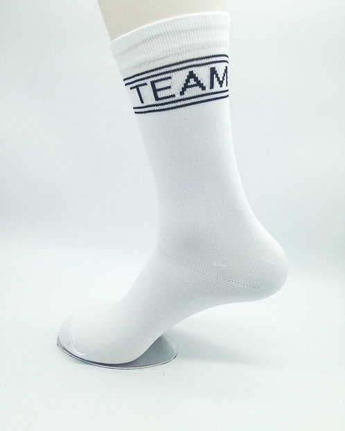 White Crew Socks - 1 Pair