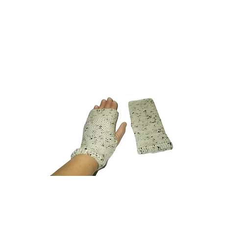 Off White with Black Speckle Texting Gloves