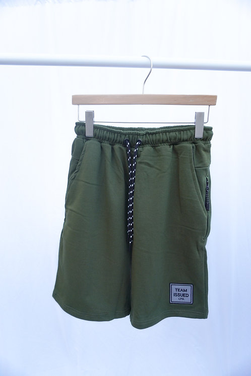 Olive Flex Sweat Shorts