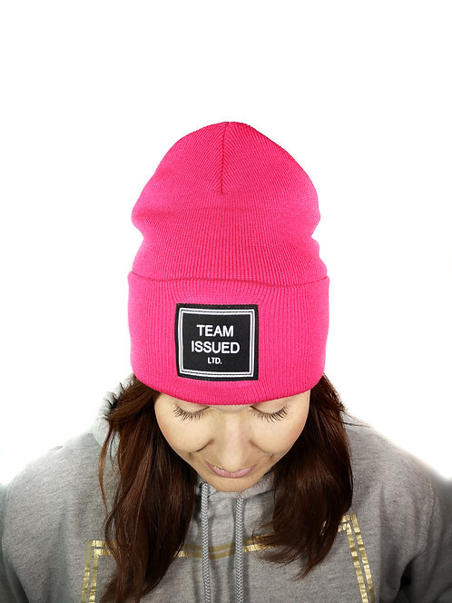 Hot Pink Folded Toque