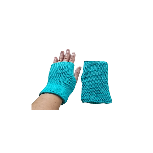 Solid Turquoise Blue Texting Gloves