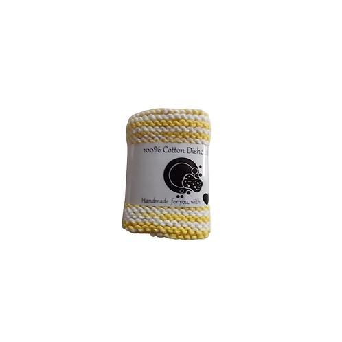 Lemon Swirl Cotton Dishcloth