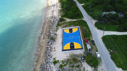 Our signature basketball courts are a favourite for many, as its beautiful markings in the colors of