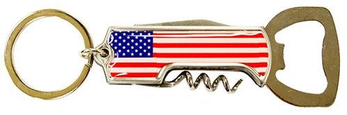 American Flag Bottle Opener & Corkscrew