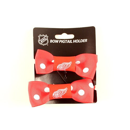 Red Wings Bow Style Ponytail & Pigtail Holders