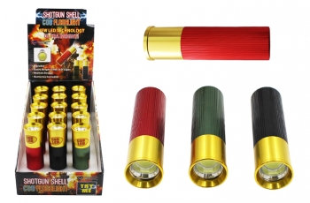 Super Bright COB Flashlight - Shotgun Shell