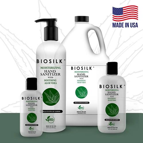 Biosilk® Hand Sanitizer Gel - 77% Ethyl Alcohol - Lemon Scent