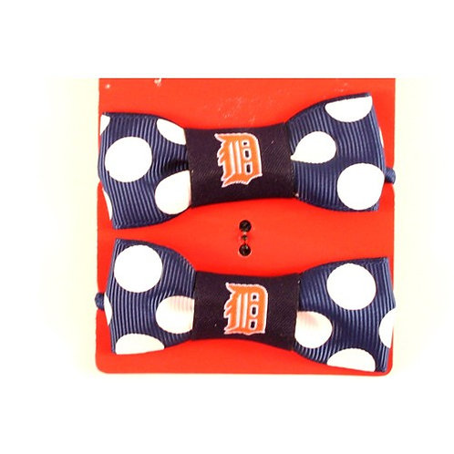Tigers Bow Style Ponytail & Pigtail Holders