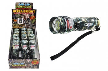 Super Bright COB Flashlight with Laser Pointer - Camo