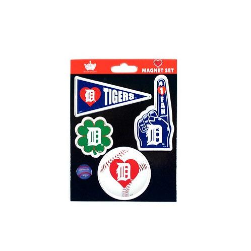 Tigers 4 Magnet Set