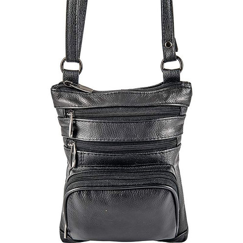 Casual Outfitters™ Small Solid Leather Shoulder Bag