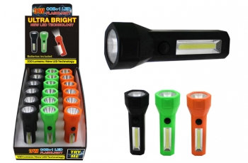 Super Bright COB Flashlight with Work Light