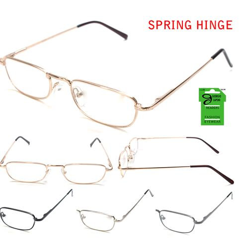Metal Frame Reading Glasses with Spring Hinge