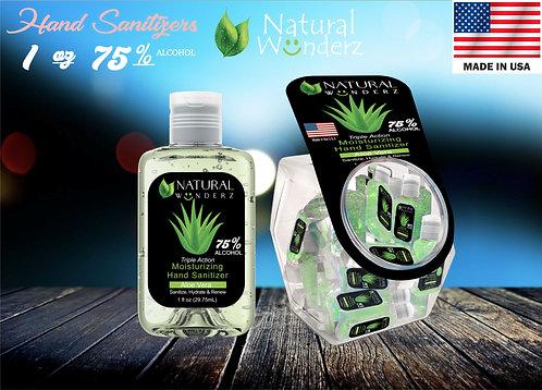 Natural Wunderz Aloe Vera Hand Sanitizer Gel - 1oz with Tub Display