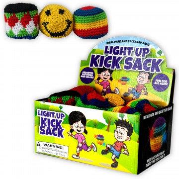 Light-Up Woven Kick Sacks/Hacky Sacks in a Countertop Display