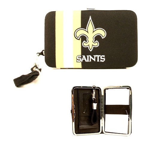 Saints Distressed Logo Wristlet / Wallet