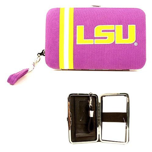 LSU Distressed Logo Wristlet / Wallet