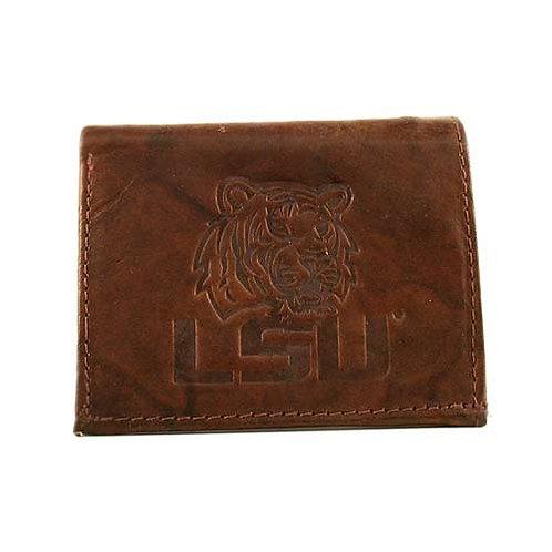 LSU Leather Tri-Fold Wallet
